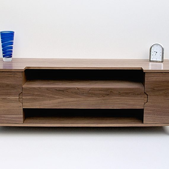 walnut media unit
