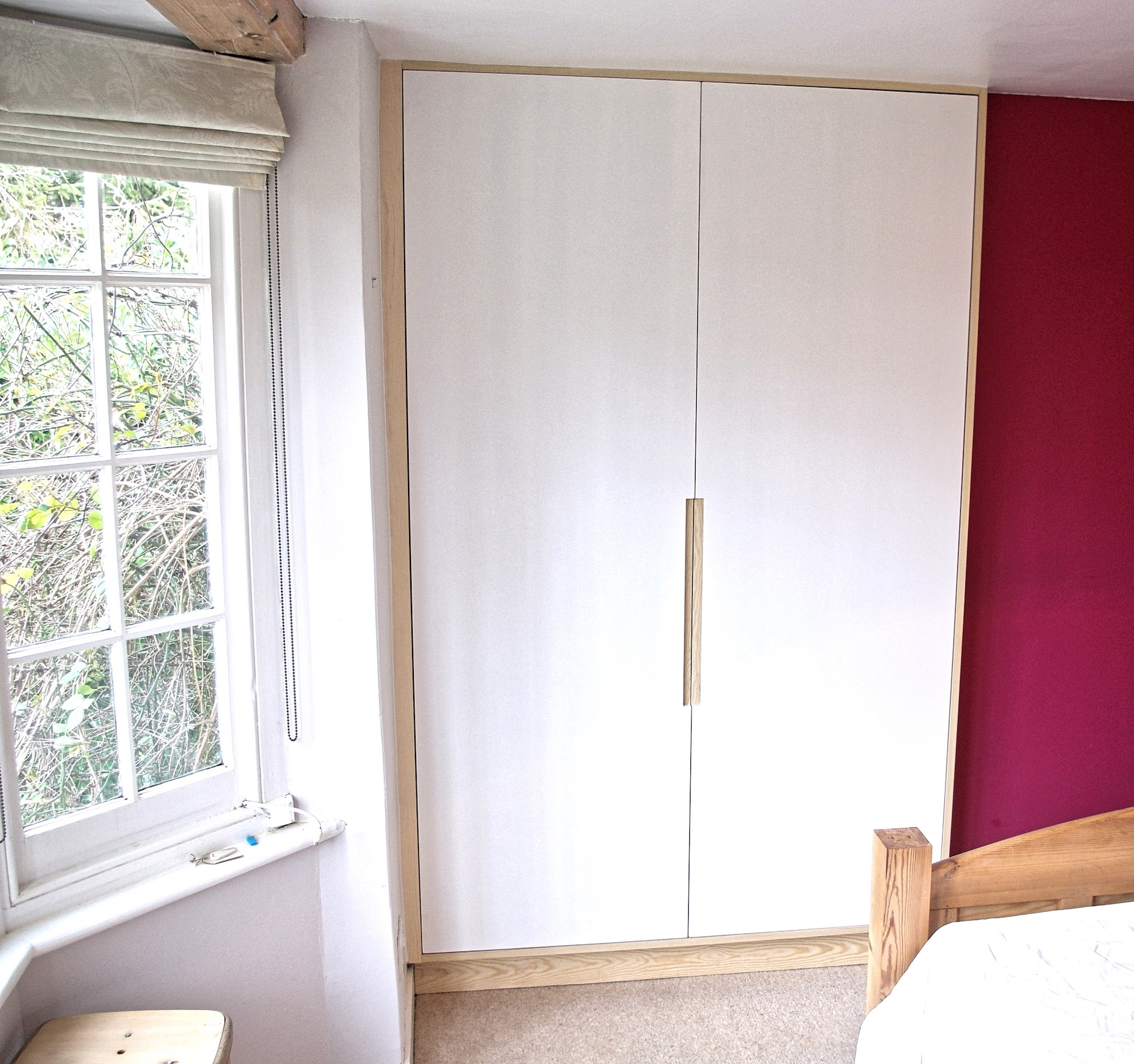 white fitted wardrobe